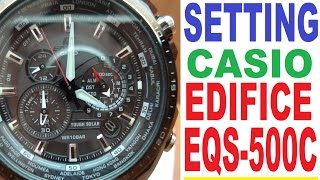 Setting Casio Edifice EQS-500C