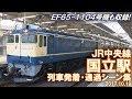 【EF65-1104号機も収録!】JR中央線 国立駅 列車発着シーン集 2017.10.19