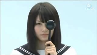 コント番組での、横山由依の視力検査です。