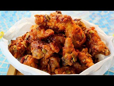 Korean honey butter fried chicken (허니버터치킨)