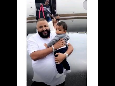 DJ Khaled Son Asahd Khaled Fly's In His Own Private Jet - DJ Khaled Snap Story