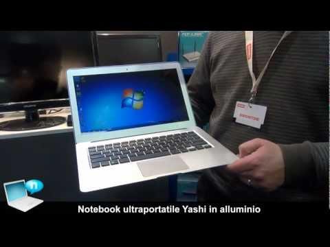 Notebook Yashi ultraportatile in alluminio