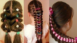 ОЧЕНЬ ЛЕТНИЕ КОСЫ  Оригинальные причёски для девочки Hair video Hair tutorial
