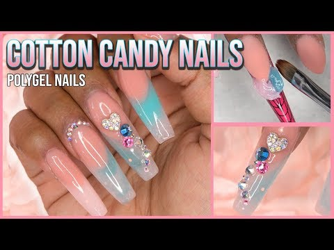 Polygel Nails Tutorial - Marble Nails - Nail Forms - Nails at Home - For Beginners - Gelish Polygel