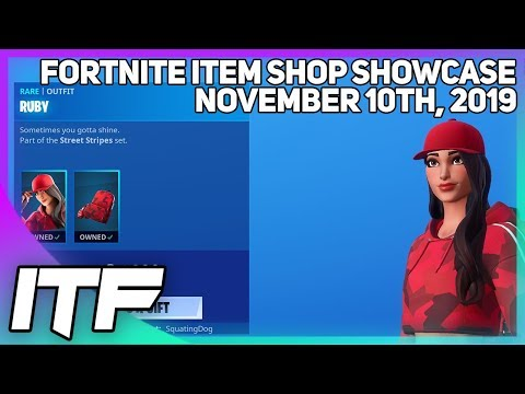 Fortnite Item Shop RUBY IS BACK! [November 10th, 2019] (Fortnite Battle Royale)