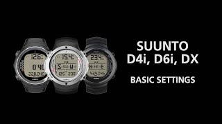 Suunto D-Series - How to change basic settings