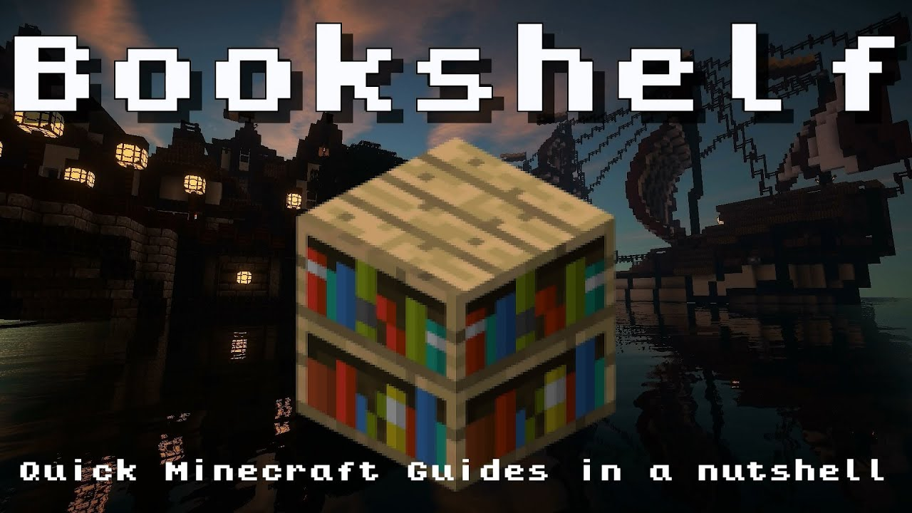 Minecraft Bookshelf Recipe Item Id Information Up To Date