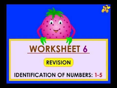 Kindergarten learning number worksheets - numbers 1 to 5