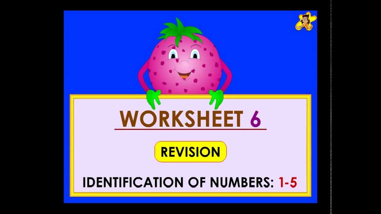 Kindergarten learning number worksheets - numbers 1 to 5 ...