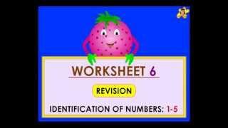 Kindergarten Learning Number Worksheets