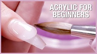 💅🏼Acrylic Nail Tutorial - H๐w To Apply Acrylic For Beginners 🎉📚
