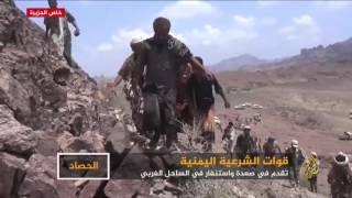 الجيش والمقاومة يتقدمان في صعدة والساحل الغربي لليمن