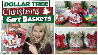 DOLLAR TREE CHRISTMAS GIFT BASKET IDEAS