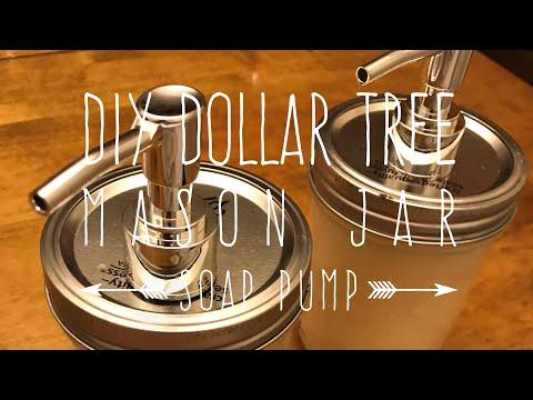 DIY Dollar Tree Mason Jar Soap Pump 2 Ways