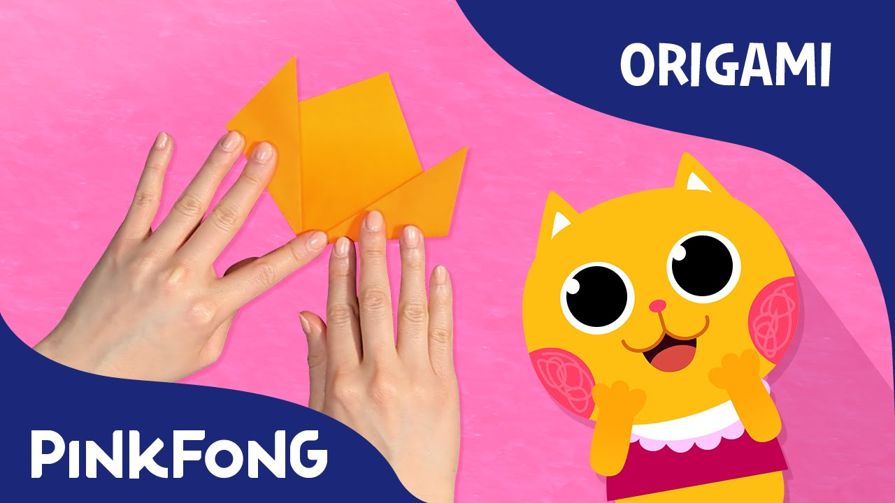 Three Little Kittens Mother Goose With Origami Pinkfong Origami Pinkfong Songs For Children Youtube