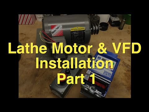 South bend lathe 3 phase motor vfd installation part 1 for 3 phase vfd single phase motor