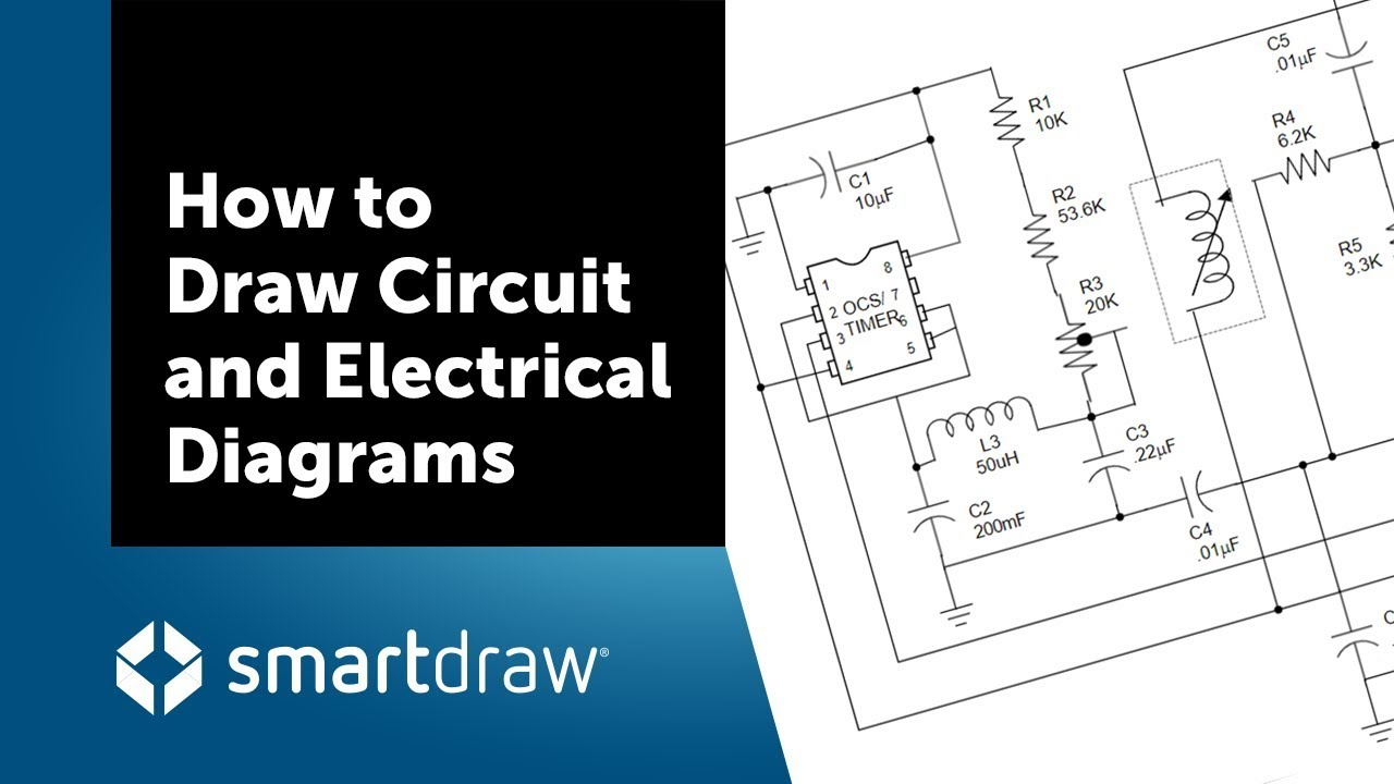 How to Draw    Circuit    and Electrical    Diagrams    with SmartDraw  YouTube