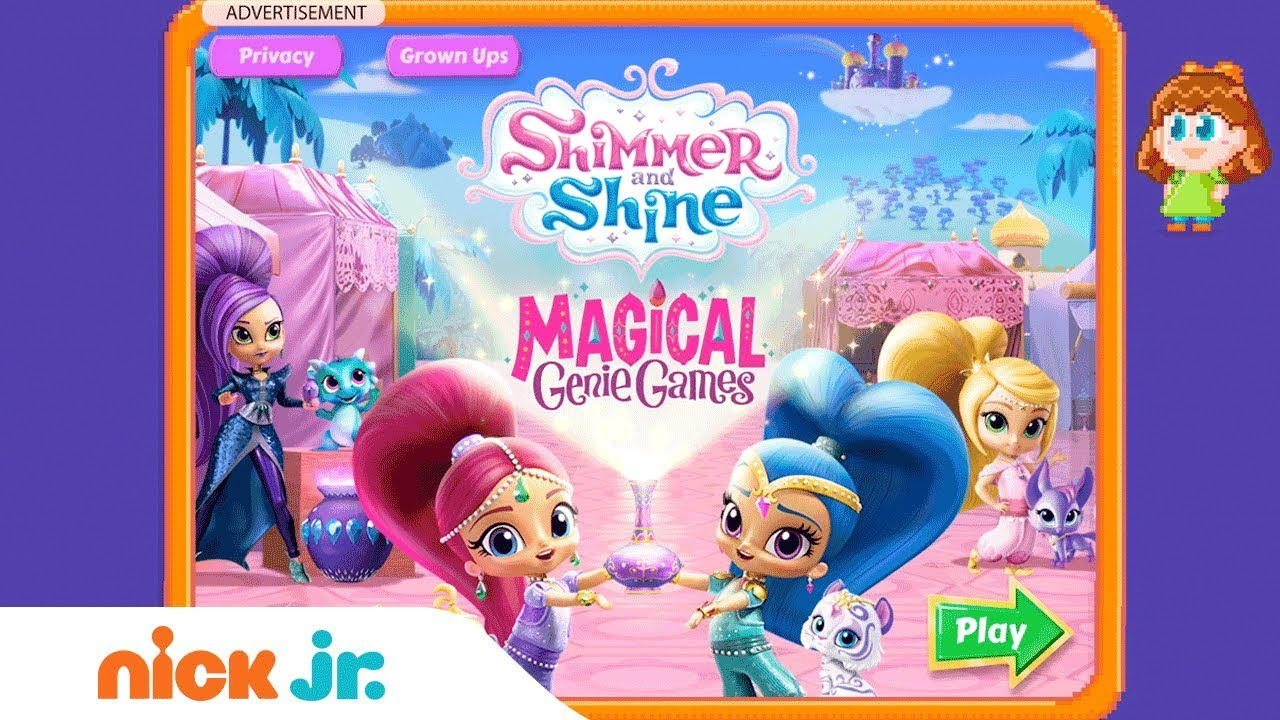 Shimmer And Shine: 'Magical Genie Games' Game Walkthrough
