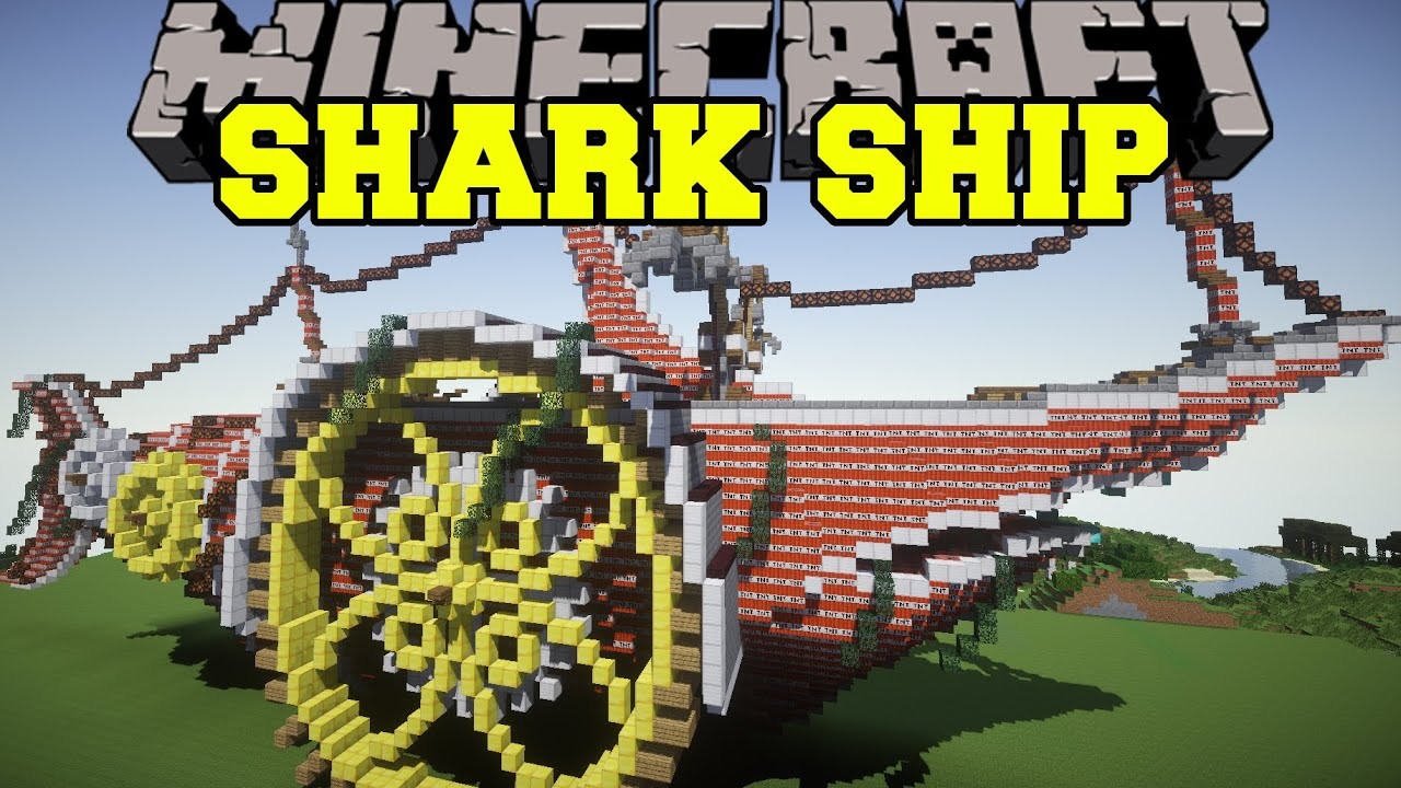 Minecraft Shark Ship Vs Tnt Build Creation Map
