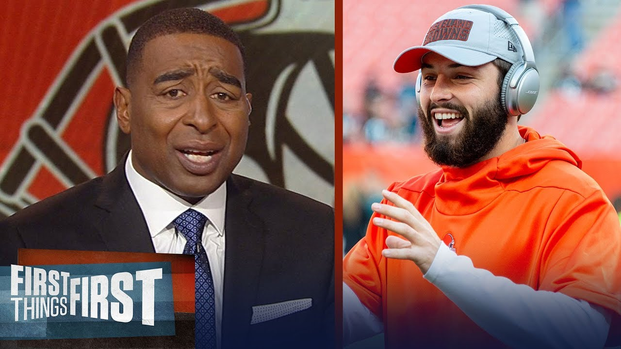 Cris Carter reacts to Drew Brees' high praise for Baker Mayfield | NFL | FIRST THINGS FIRST
