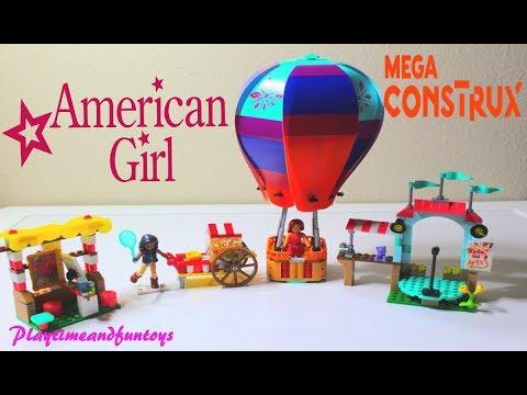 Mega Construx American Girl Saige's Balloon Festival Building Set  Unboxing Toys Review