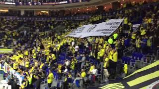 Fenerbahçe Beko 65-94 Real Madrid | Maç Öncesi Obradovic Sesleri İle Açılan Pankart