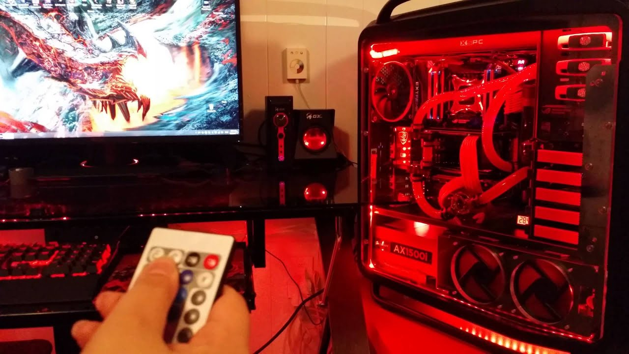 Ultimate Red Gaming Build X99 Ddr4 Gtx 980 Sli Youtube