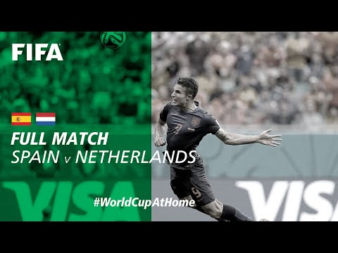FIFATV is currently streaming the 2014 WC on Youtube - #WorldCupAtHome | Spain 0:0 Netherlands (Brazil 2014)