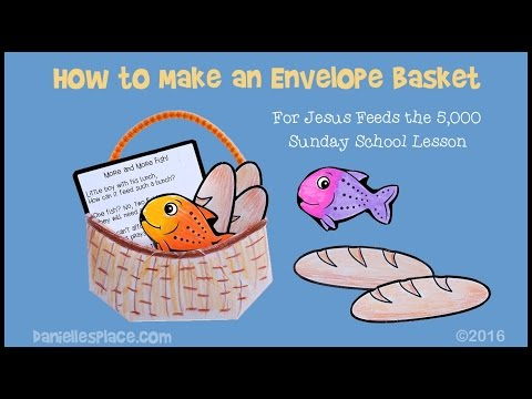 Bible Craft - Envelope Basket Craft -  View It And Do It Craft! #3