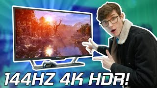 A HUGE 4K HDR Gaming Monitor That Has EVERYTHING! - Acer CG437K Hand On!