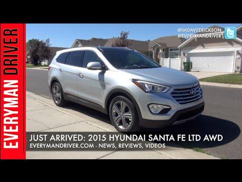 Just Arrived: 2015 Hyundai Santa Fe Limited AWD on Everyman Driver