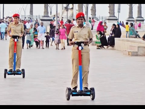 1st time in India, PONDICHERRY Police have launched Hoverboard for Beach patrolling