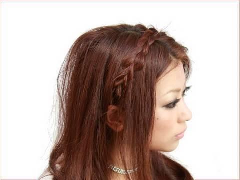 ヘアアレンジ 三つ編みブリッジヘア casualhair hairtutorial
