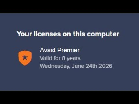 play google avast premier 2018 license key