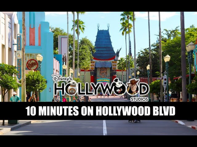 Disney's Hollywood Studios Reopening Crowds 10 Minutes On Hollywood Boulevard