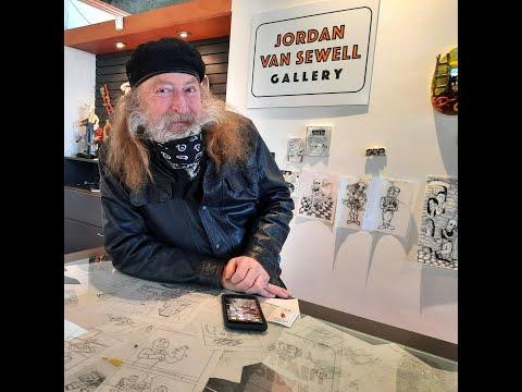 Winnipeg artist Jordan Van Sewell talk about his art and working as an artist during COVID 19