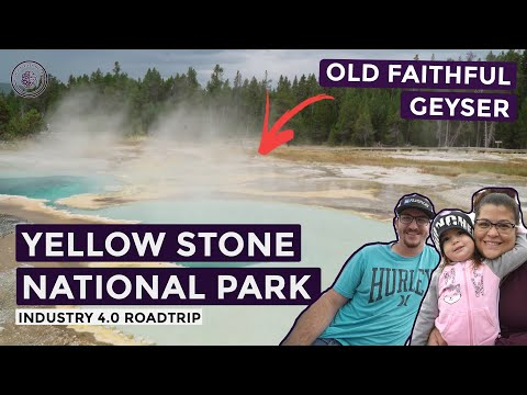 Visiting the Old Faithful Geyser at Yellowstone National Park