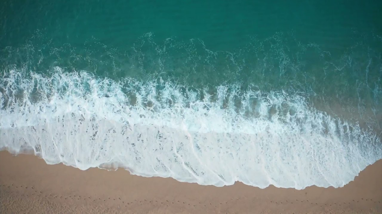 Download Dominican Beach with Waves Rolling   Natural Background With Ocean Sounds