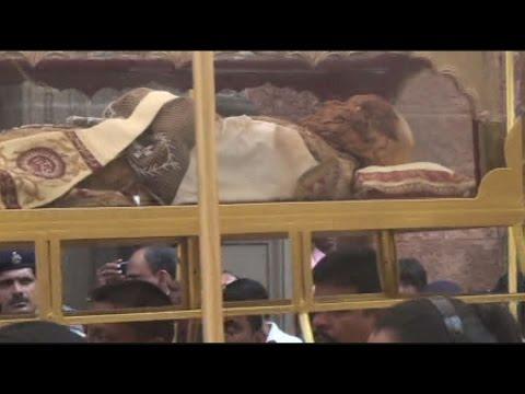 フランシスコ・ザビエル遺体を公開 インドで10年に1度 , YouTube