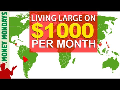 Cheapest Countries to live | Living on 1000 a month LUXURIOUSLY