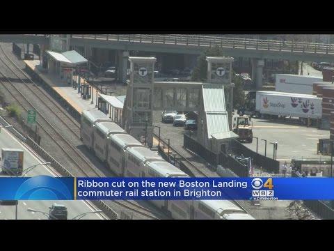 Ribbon Cut On New Boston Landing MBTA Commuter Rail Station