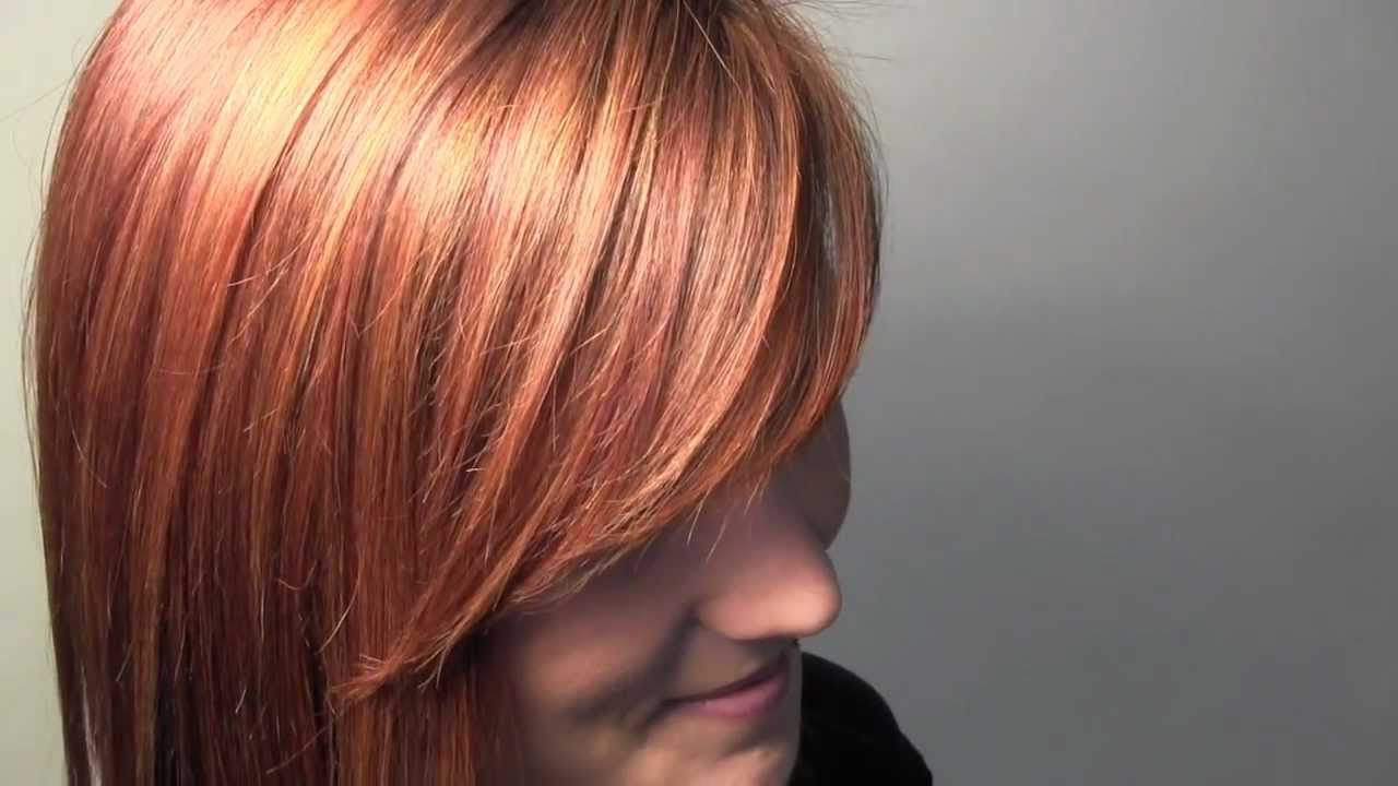 How To Red Lighting Highlighting Hair Coloring Technique Youtube