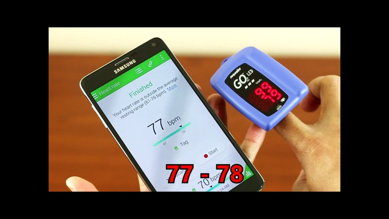 Note 4 - Heart Rate Monitor & Oxygen Saturation Accuracy Test