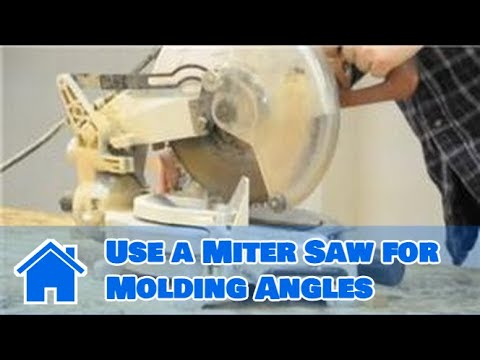 Trim & Molding : How to Use a Miter Saw for Molding Angles