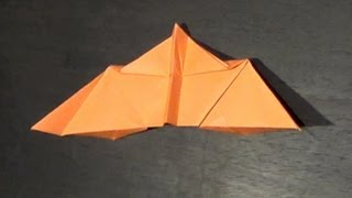 Paper Airplane Flying Bat Origami