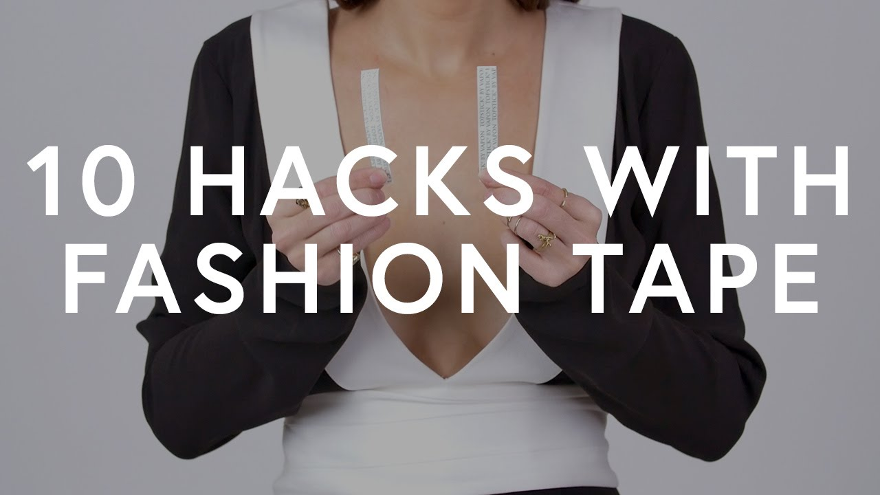 10 Hacks With Fashion Tape   The Zoe Report by Rachel Zoe   YouTube 10 Hacks With Fashion Tape   The Zoe Report by Rachel Zoe