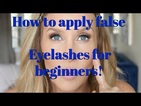 How To Apply False Eyelashes for Beginners! - 동영상