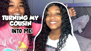 TURNING MY LITTLE COUSIN INTO ME!!!