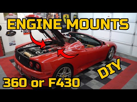 FIXING a SUPER COMMON Ferrari F430 & 360 Problem – DIY Engine Mount Replacement