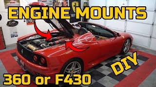 FIXING a SUPER COMMON Ferrari F430 & 360 Problem - DIY Engine Mount Replacement